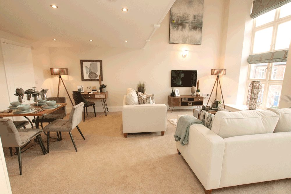 show home set up to sell the perfect lifestyle
